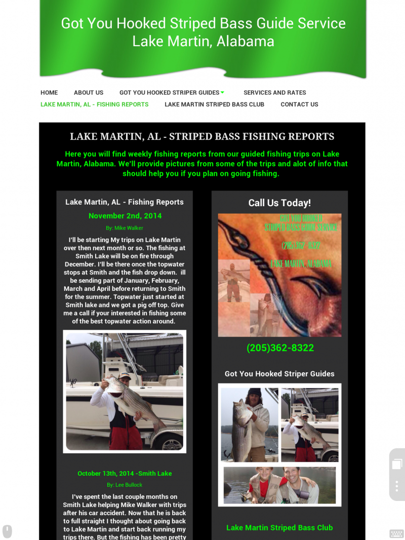 Lake Martin, AL - Fishing Reports Link