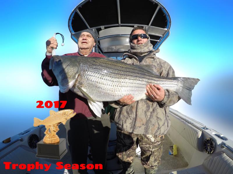 Trophy Striped Bass Trip 2017